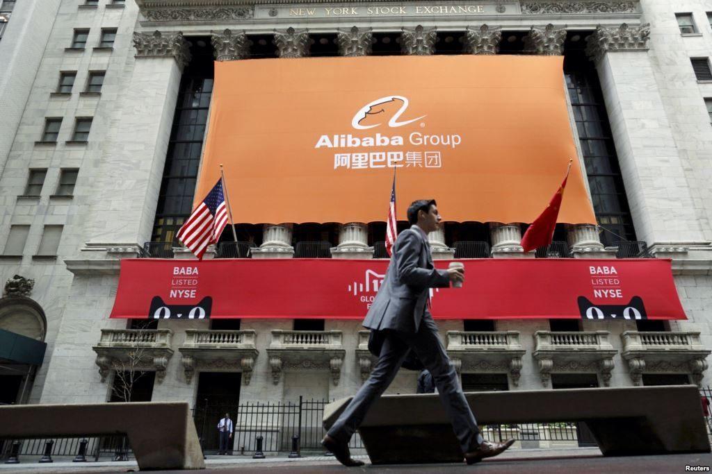 Alibaba börsintroduserades i New York 2016