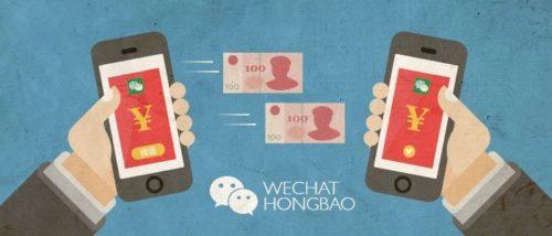 Med WeChat kan användare enkelt skicka hongbaos till varandra