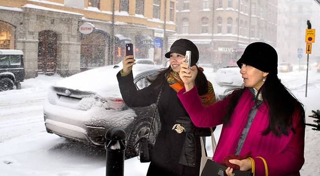 Kinesiska turister i Stockholm. Foto: Sture Waldö