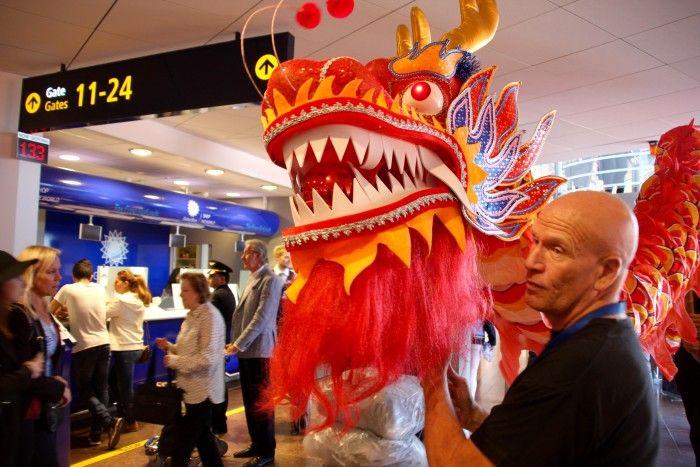 """Ceremoni på Arlanda för den """"kinesiska makeover"""" som gjordes under 2015"""